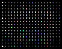 Teste padrão de mosaico multicolorido das luzes do Glitz no fundo preto ilustração royalty free