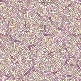 Teste padrão de mosaico redondo sem emenda ilustração do vetor