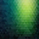 Teste padrão de mosaico retro de formas geométricas do triângulo Fotos de Stock Royalty Free