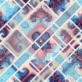 Teste padrão de mosaico sem emenda Fotos de Stock
