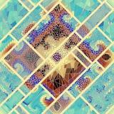 Teste padrão de mosaico sem emenda Foto de Stock