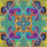 Teste padrão de mosaico sem emenda Fotografia de Stock Royalty Free