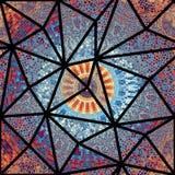 Teste padrão de mosaico sem emenda Imagens de Stock Royalty Free