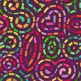 Teste padrão de mosaico sem emenda do vetor no preto ilustração stock