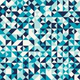 Teste padrão de mosaico triangular Fundo sem emenda geométrico imagens de stock