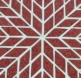 Teste padrão de mosaico vermelho e branco Fotos de Stock Royalty Free