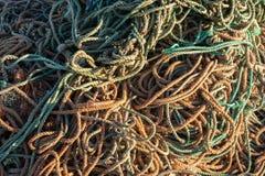 Teste padrão de nó do pescador da rede de pesca fotos de stock