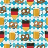 Teste padrão de Oktoberfest Fotografia de Stock Royalty Free