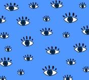 Teste padrão de olhos ilustração royalty free