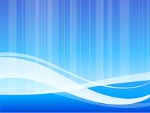 Teste padrão de onda abstrato azul do fundo do Internet Imagem de Stock Royalty Free
