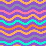 Teste padrão de onda colorido ilustração stock
