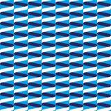 Teste padrão de onda espiral sem emenda da fita no azul Fotos de Stock Royalty Free