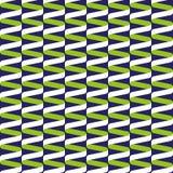 Teste padrão de onda espiral sem emenda da fita no verde-lima e no azul Foto de Stock Royalty Free