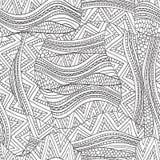 Teste padrão de ondas artisticamente étnico no estilo da garatuja Imagens de Stock