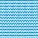 Teste padrão de ondas azul Imagens de Stock
