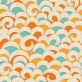Teste padrão de ondas colorido Fotografia de Stock
