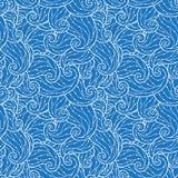 Teste padrão de ondas desenhado à mão abstrato sem emenda, fundo ondulado Imagens de Stock
