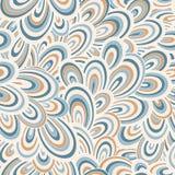 Teste padrão de ondas desenhado à mão abstrato sem emenda, fundo ondulado Foto de Stock Royalty Free
