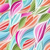 Teste padrão de ondas desenhado à mão abstrato sem emenda vívido ilustração royalty free