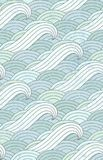 Teste padrão de ondas Oceano Teste padrão da água ilustração do vetor