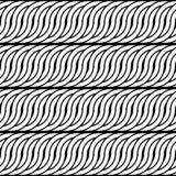 Teste padrão de ondulação monocromático sem emenda do projeto ilustração royalty free