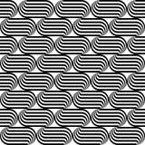 Teste padrão de ondulação monocromático sem emenda do projeto Imagens de Stock Royalty Free