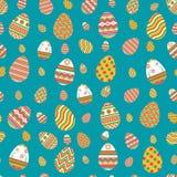 Teste padrão de ovos da páscoa coloridos ilustração stock