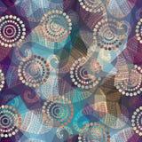 Teste padrão de Paisley no backgeound geométrico Imagens de Stock Royalty Free