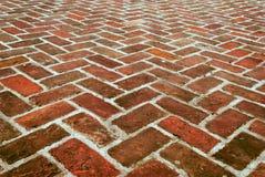 Teste padrão de passeio do tijolo da zona Fotos de Stock