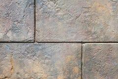 Teste padrão de pedra da parede do bloco Fotos de Stock Royalty Free