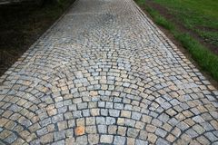 Teste padrão de pedra do pavimento Fotografia de Stock