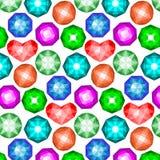 Teste padrão de pedras preciosas coloridas Foto de Stock