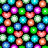 Teste padrão de pedras preciosas coloridas Fotografia de Stock Royalty Free