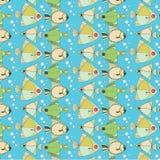 Teste padrão de peixes marinhos ilustração royalty free