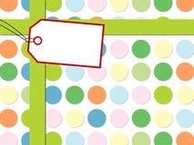 Teste padrão de ponto com caixa de presente Imagens de Stock