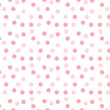 Teste padrão de ponto cor-de-rosa ilustração stock