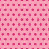 Teste padrão de ponto cor-de-rosa da polca Fotografia de Stock Royalty Free