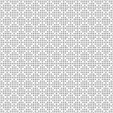 Teste padrão de pontos monocromático sem emenda Textura geométrica branca preta simples para a tela e a roupa Ilustração do vetor Imagens de Stock Royalty Free