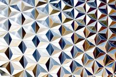 Teste padrão de prata metálico Fotos de Stock Royalty Free