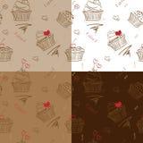 Teste padrão de quatro bolos Ilustração Royalty Free