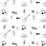 Teste padrão de rádio do Internet preto e branco ilustração royalty free