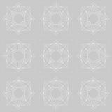 Teste padrão de repetição abstrato cinzento e branco Foto de Stock Royalty Free