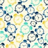 Teste padrão de repetição sem emenda de alarmes abstratos coloridos Vetor Imagem de Stock Royalty Free
