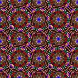 Teste padrão de repetição sem emenda de mandalas coloridas Fotos de Stock Royalty Free