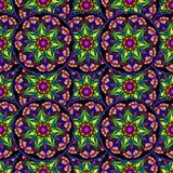 Teste padrão de repetição sem emenda de mandalas coloridas Imagens de Stock