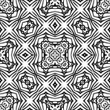 Teste padrão de repetição sem emenda preto e branco do vetor Imagem de Stock Royalty Free