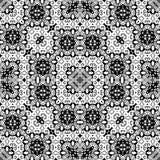 Teste padrão de repetição sem emenda preto e branco do vetor Fotografia de Stock Royalty Free