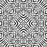 Teste padrão de repetição sem emenda preto e branco do vetor Fotografia de Stock