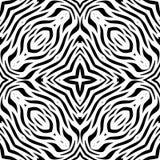Teste padrão de repetição sem emenda preto e branco do vetor Imagens de Stock Royalty Free