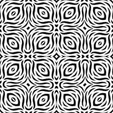 Teste padrão de repetição sem emenda preto e branco do vetor Fotos de Stock Royalty Free